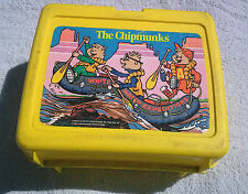USED VINTAGE ALVIN & THE CHIPMUNKS White Water Expeditions YELLOW LUNCH BOX 1984