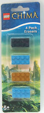 LEGO STATIONERY CHIMA BRICK ERASER - RUBBER  X 4 COLOURS RETRO party bags