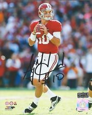 AJ McCarron Autographed/Signed Alabama Crimson Tide 16x20 NCAA Photo Drop Back