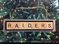 Oakland Raiders Scrabble Tiles Ornament Handmade Holiday Christmas LA Football