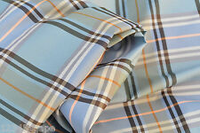 D/4 CUPRO-SILK & VISCOSE BLEND SUPER FINE POPLIN SATIN WOVEN MULTI COLOUR CHECK