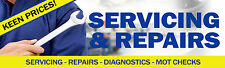 6FT X 2FT SERVICING AND REPAIRS BANNER Diagnostics Tools Vauxhall Volkswagen