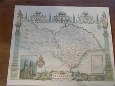 """Antico c18th Nord Equitazione Yorkshire colore mappa York Minster riproduzione 20x16 """""""