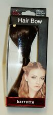 MIA Hair Bow Barette LT BROWN Attaches To Hair With Barrette Clasp 4.1/2 X 1.1/2