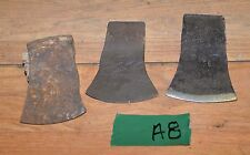 3 early axe heads embossed collectible hatchet cooper wood tool vintage ax lot
