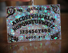 LG Faux White Opal Ouija Spirit Board Resin Necklace Occult/Goth/Lolita/Witch