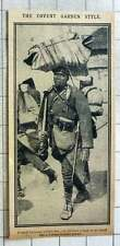 1915 French Colonial Soldier Balancing The Load On His Head A La Covent Garden