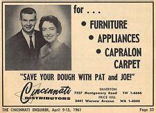 1961 CINCINNATI DISTRIBUTORS~JOE & PATRICIA TYLER PERIN~FURNITURE/CARPET STORE
