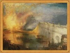 The Burning of the Houses of Lords and Commons William Turner Brand B A2 03533