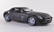MINICHAMPS MERCEDES SLS AMG Matt Black 1:18**New Rare Release**