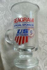 VTG SEAGRAM OFFICIAL SPONSOR OLYMPIC US SKI TEAM LEROUX MAD MOGUL WHISKEY GLASS