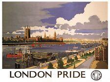 Viajes Turismo Londres orgullo del Reino Unido Westminster Palacio Big Ben cartel impresión bb2855a