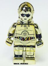 Custom Lego Star Wars Minifigure Chrome Gold C-3PO C3PO
