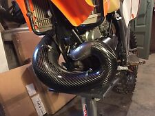 KTM Exc 250 300 Carbone Coudes Protection Exhaust Pipe Cover 2006/2010 neuf !!!