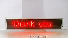 New 16x96 LED Display Programmable Message moving scrolling Tag Red