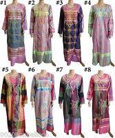 Egypt Cotton Embroidered Kaftan Caftan Dress Jilbab Galabeya Abaya Islamic 439