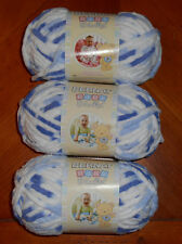 Bernat Baby Blanket Yarn Lot Of 3 Skeins (Little Denim #03116) 3.5 oz. Skeins