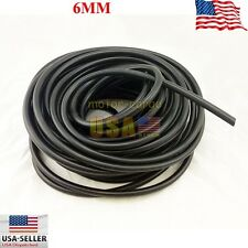 10FEET  6MM ID BLack FULL SILICONE FUEL/AIR VACUUM HOSE/LINE/PIPE/TUBE