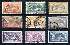 """FRANCE 1900-27 A Group of """"Mersons"""" to 5 Francs SG 303 to SG 430 VFU"""