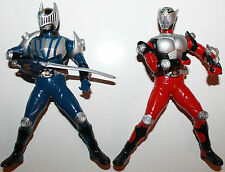 "Masked Rider Kamen Figures x 2 2002 Japan Banpresto 6"" Tall Rotating Arms / Head"