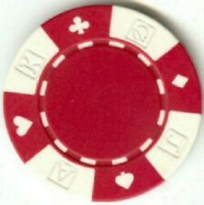 5 pc 5 colors 11.5 g Ace-King-Queen-Jack Suited poker chips samples set #48