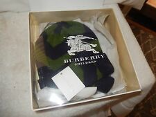 New BURBERRY CHILDREN  'Callena' Cashmere BEANIE & Mitten Set Sz. 0-3 month $200