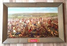 Vintage 1952 Anheuser-Busch Budweiser Custer's Last Fight Advertising Sign