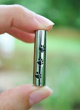 Cremation Jewelry Pendant Urn for Ashes Pet Paw Print Dog Cat Silver Vial USA