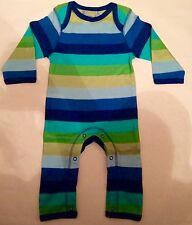 New Baby Boys Ex designer Footless Romper Playsuit Age 0-3 Months Stripey