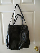 GAP Tote/Shoulder Bag Black Synthetic Leather **Mint Condition**