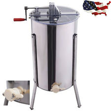 Stainless Steel Large 2 Frame Honey Extractor Beekeeping Equipment Tool New YS