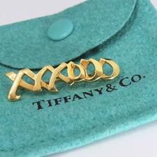NYJEWEL Tiffany & Co 18k Gold  Paloma Picasso XXXOOO Hugs & Kisses Brooch Pin