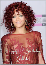 Rihanna Birthday Card A5 Personalised with any wording