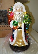 THOMAS PACCONI CLASSICS 2004 20TH ANNIVERSARY SANTA FIGURE W PRESENTS & TREE NIB