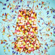TOPSHOP SWEET CANDY DOLLY MIXTURE PRINT STRAPPY CAMI RUNNER SHORTS SET 8 36 4!