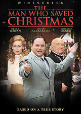 DVD THE MAN WHO SAVED CHRISTMAS Rowan Alexander Asner NEW Based on True Story