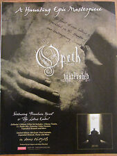 Opeth, Watershed, Full Page Promotional Ad