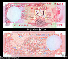 Republic of India 20 Rs Konark Chakra Issue C Rangarajan B Inset Crisp Gem UNC