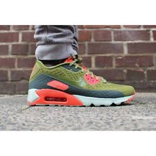 Nike Air Max 90 Ultra Breathe Mens Shoe size 8 725222-300 Green - Bright Crimson