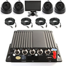 4CH AHD Car Mobile DVR Wifi 3G GPS +4 Camera +Remote Control +Cable + Screen Kit