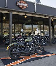 HARLEY DAVIDSON MOTORCYCLE CRUISER CUSTOM CONFEDERATE GARAGE WORKSHOP MAT