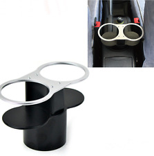 Auto Bottle Beverage Stand Black&Sliver Deluxe Dual-port Wedge Seat Dual Holder