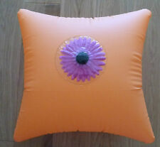 Large Inflatable Orange & Flower Travel Pillow / Cushion for Pool, Bath, Sea Etc