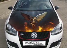 Angel and Demon Full Color Graphics Adhesive Vinyl Sticker Fit any Car Hood #178