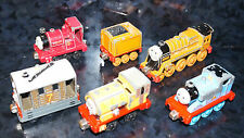 x6 Lot THOMAS & FRIEND METAL TRAIN CAR Skarloey Murdoch #7 #1 Blue Yellow Red