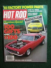 Hot Rod Magazine 1982 December How To: Wheel & Chassis Detailing & Auto Wiring +
