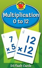 Multiplication 0 to 12 Learning Cards Brighter Child Flash Cards Fun Math Game