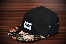 Phoenix Black Beauty 5-panel cap ha Rose five Camper gorra SnapBack Flat Flower