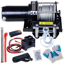 12V 3000lbs Recovery Electric Winch ATV UTV Trcuk Trailer Rope Wireless Remote