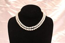"MAGNIFICENT TWO PIECES TIFFANY & CO. 18K CULTURED PEARL NECKLACE 32"" LONG"